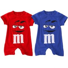 2017 Summer Baby Boy Romper Short Sleeve Cotton Jumpsuit Cartoon Printed Baby Rompers Overalls Newborn Baby Clothes ZM9
