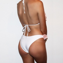 Sexy Floral Swimwear Women Swimsuit Push Up Low Waist Brazilian Bikinis Halter Bandage Bikini Set Maillot De Bain