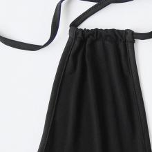 Women Bodysuit Halter Plunging V Neckline Black