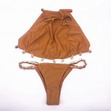 New Arrival Women Bikini High Neck With Shell