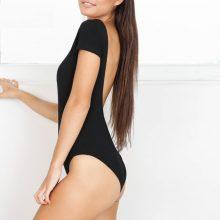 Women Bodysuit Short Sleeve White Black